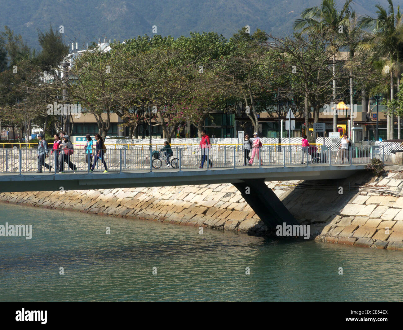 China Hong Kong Lantau island Silvermine Bay Mui Wo - Stock Image