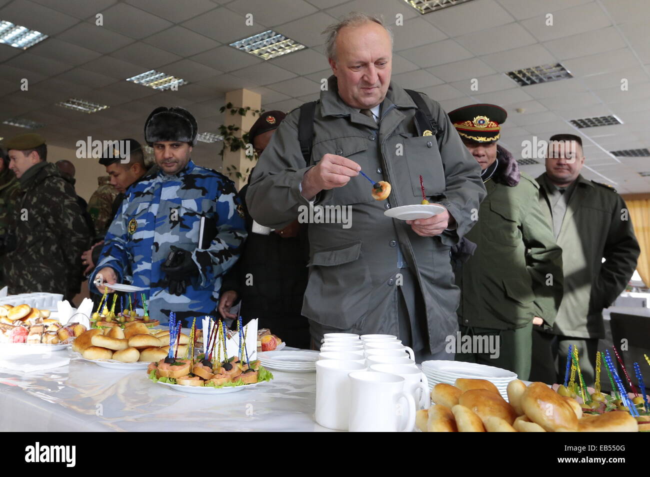 Volgograd, Russia. 26th Nov, 2014. Foreign military attaches visit the Russian Army's Southern Military District - Stock Image
