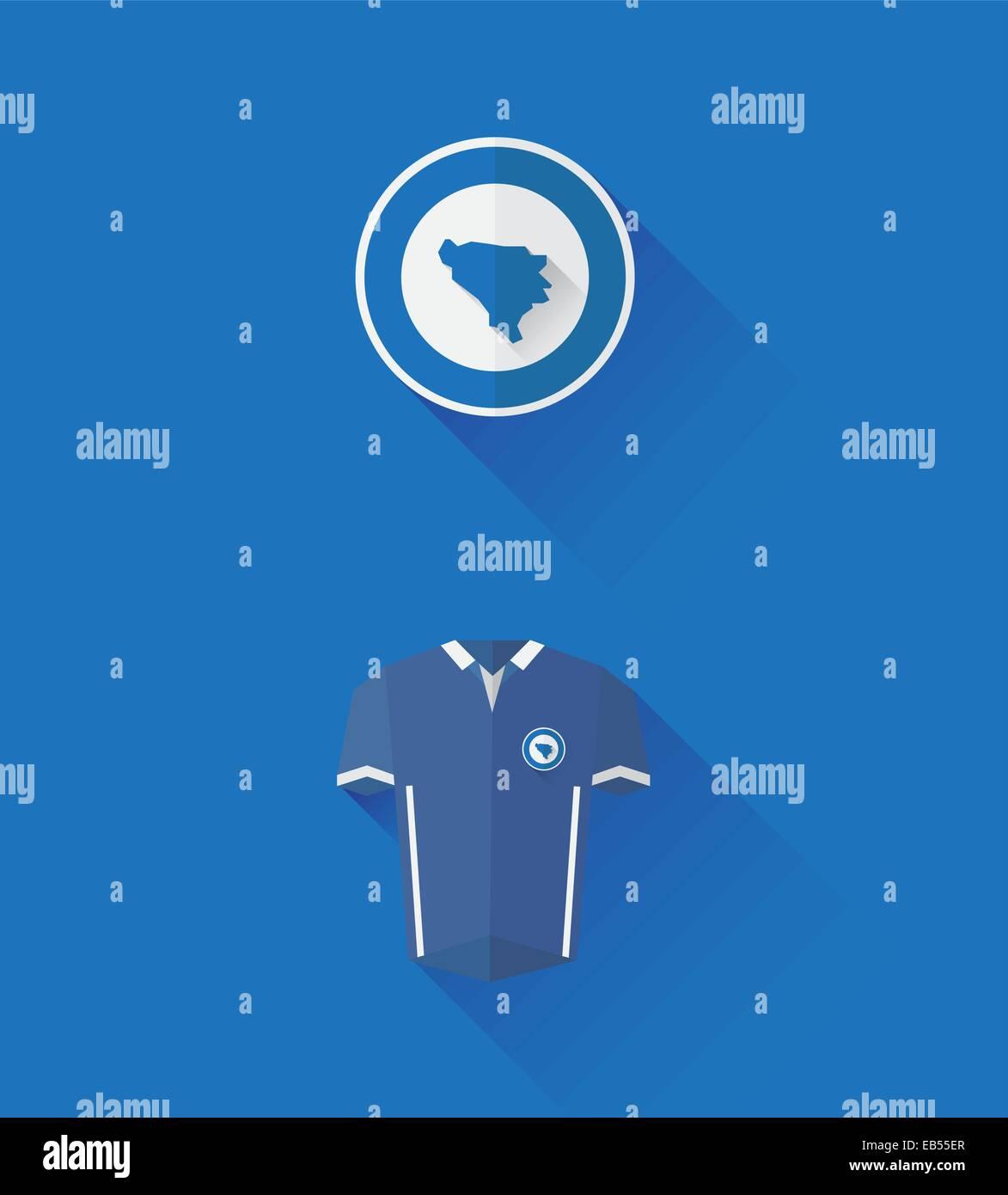 Bosnia jersey and crest vector - Stock Vector
