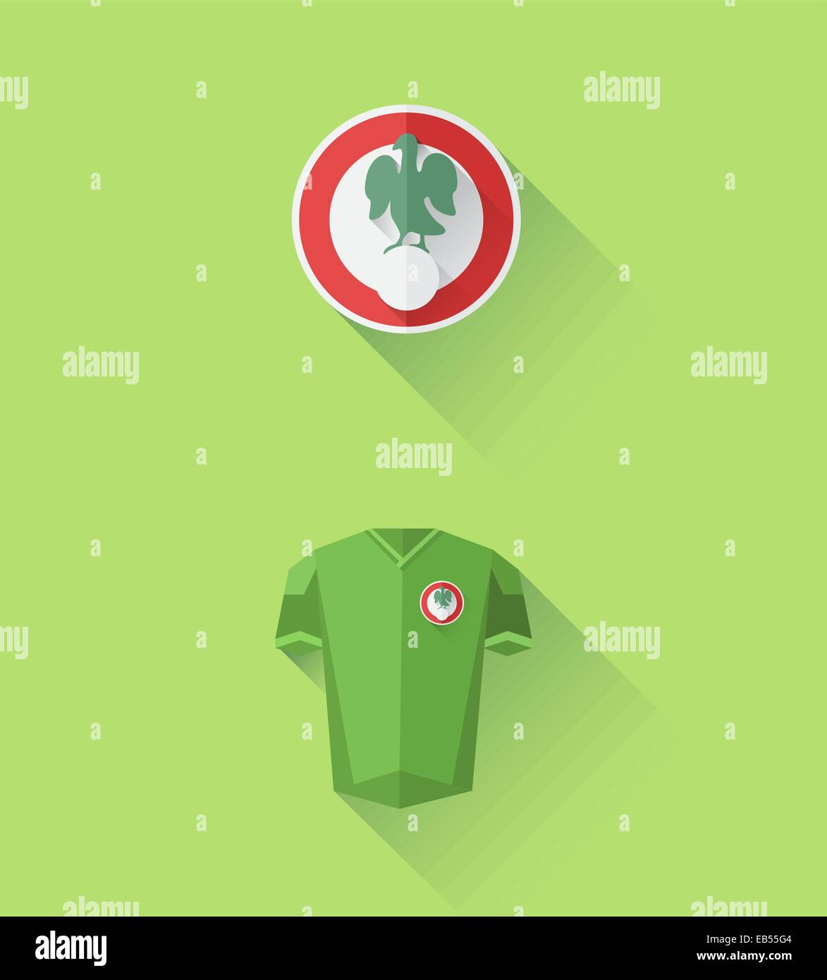 Nigeria jersey and crest vector - Stock Vector