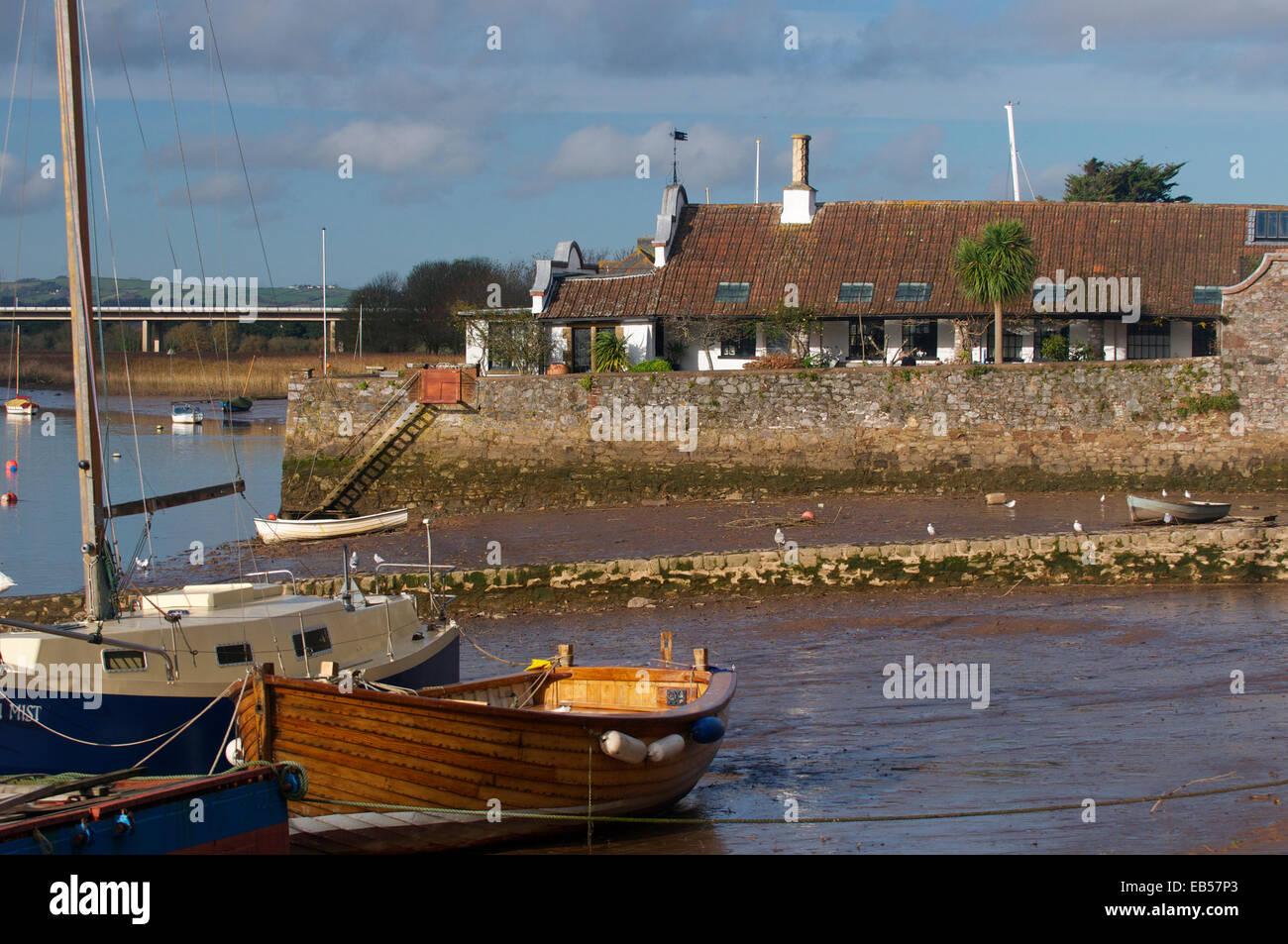 The River Exe at Topsham, Devon, UK - Stock Image
