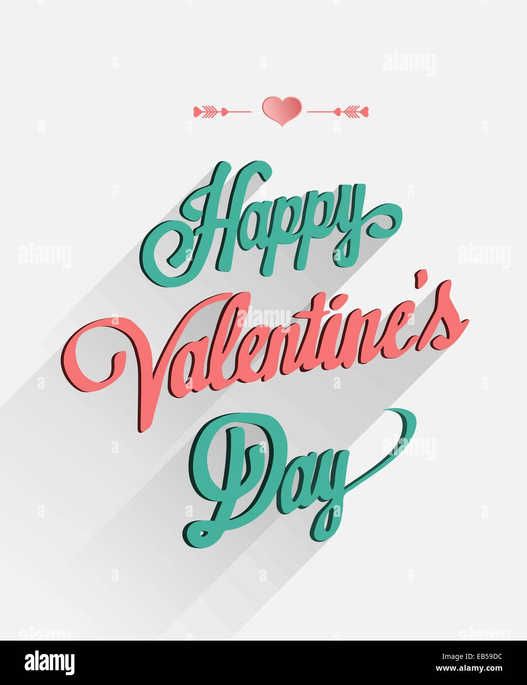 Happy Valentines Day Vector In Cursive Font Stock Vector Art