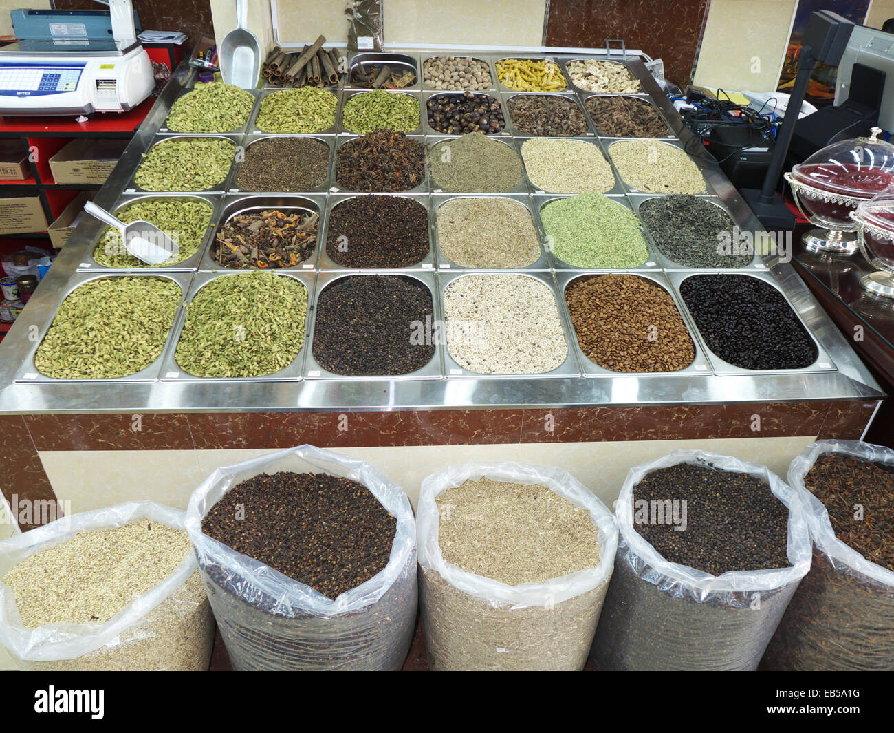 UAE Dubai Deira Old town herbs and nuts sale in supermarket