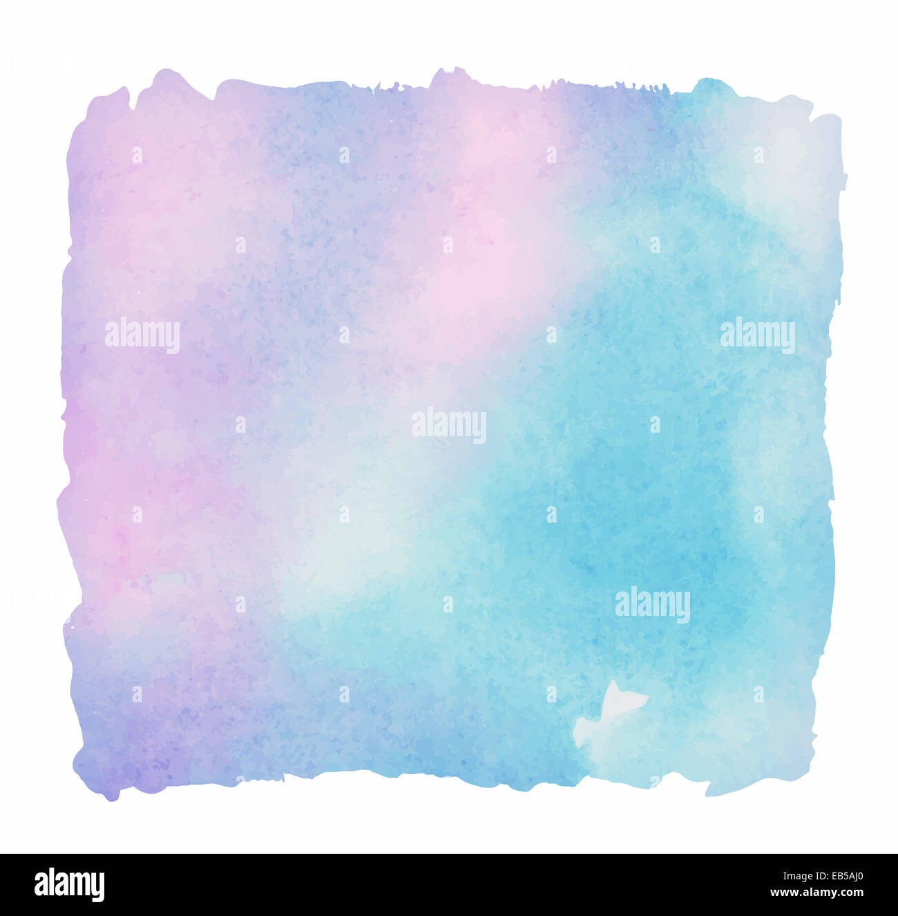Light colorful watercolor background. Painted rectangle - Stock Image