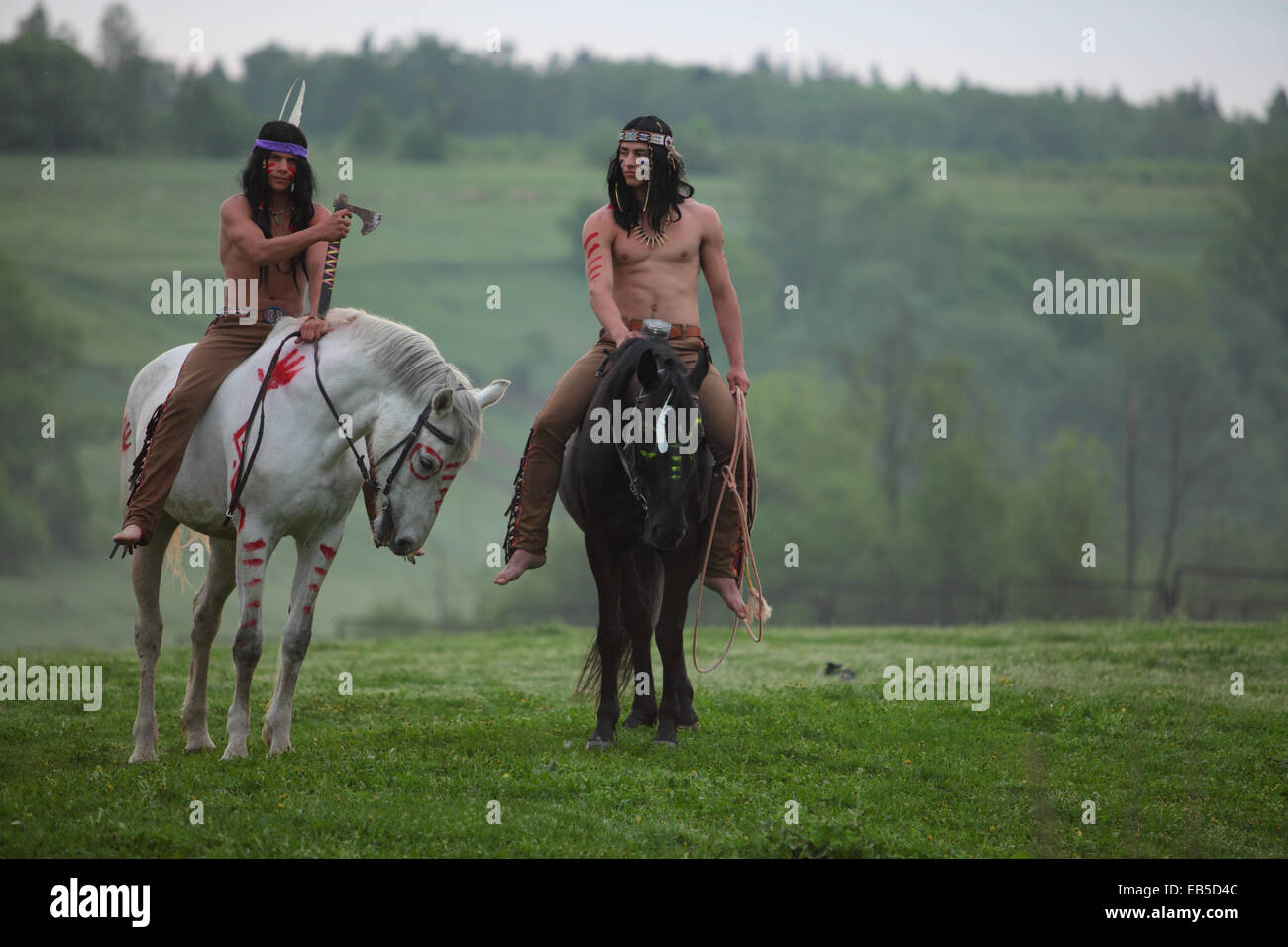 Two Mens In Traditional Indian Dress Rarticipant Role Playing Game Stock Photo Alamy
