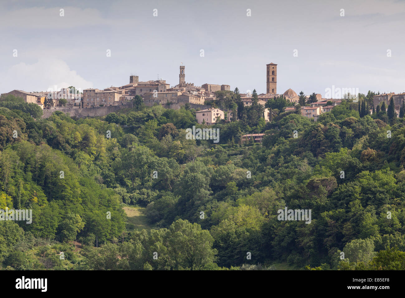 The town of Volterra, Tuscany. - Stock Image