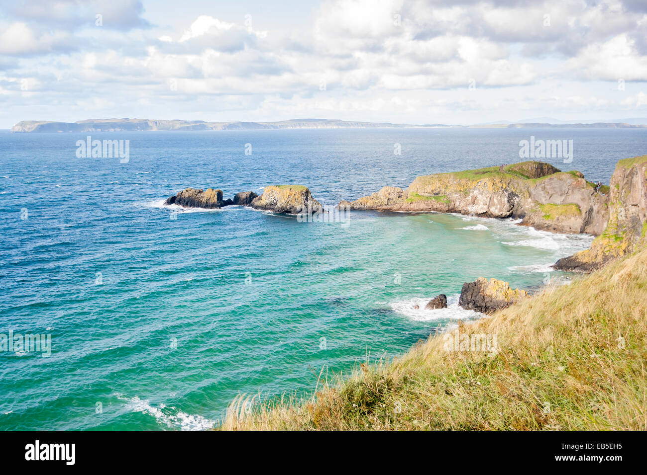 Seascape at The Carrick a rede in Northern Ireland - Stock Image