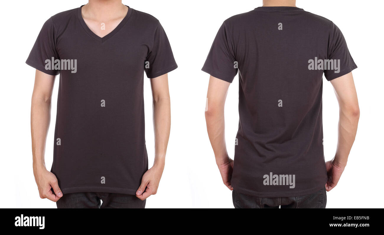 Blank T Shirt Template Front Back Cut Out Stock Images & Pictures ...