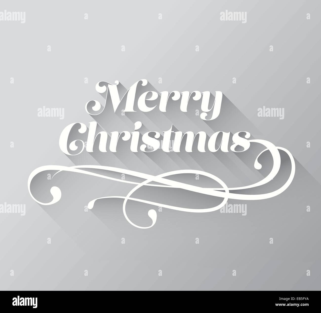 merry christmas cursive message vector stock image