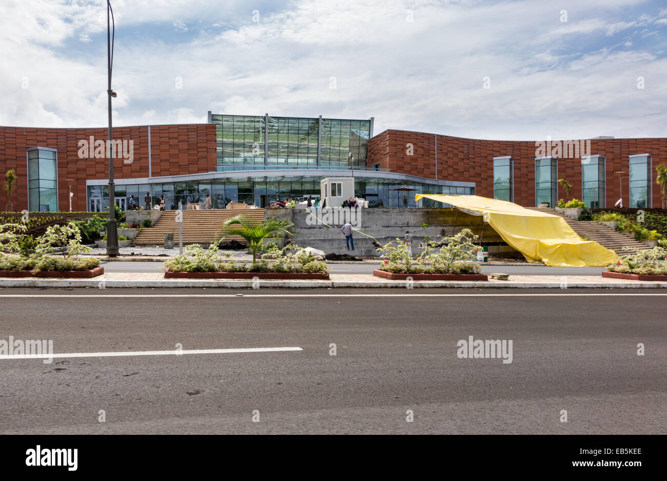 Modern Shopping Mall Building Under Construction In Sipopo Near The Capital City Of Malabo Equatorial Guinea Africa