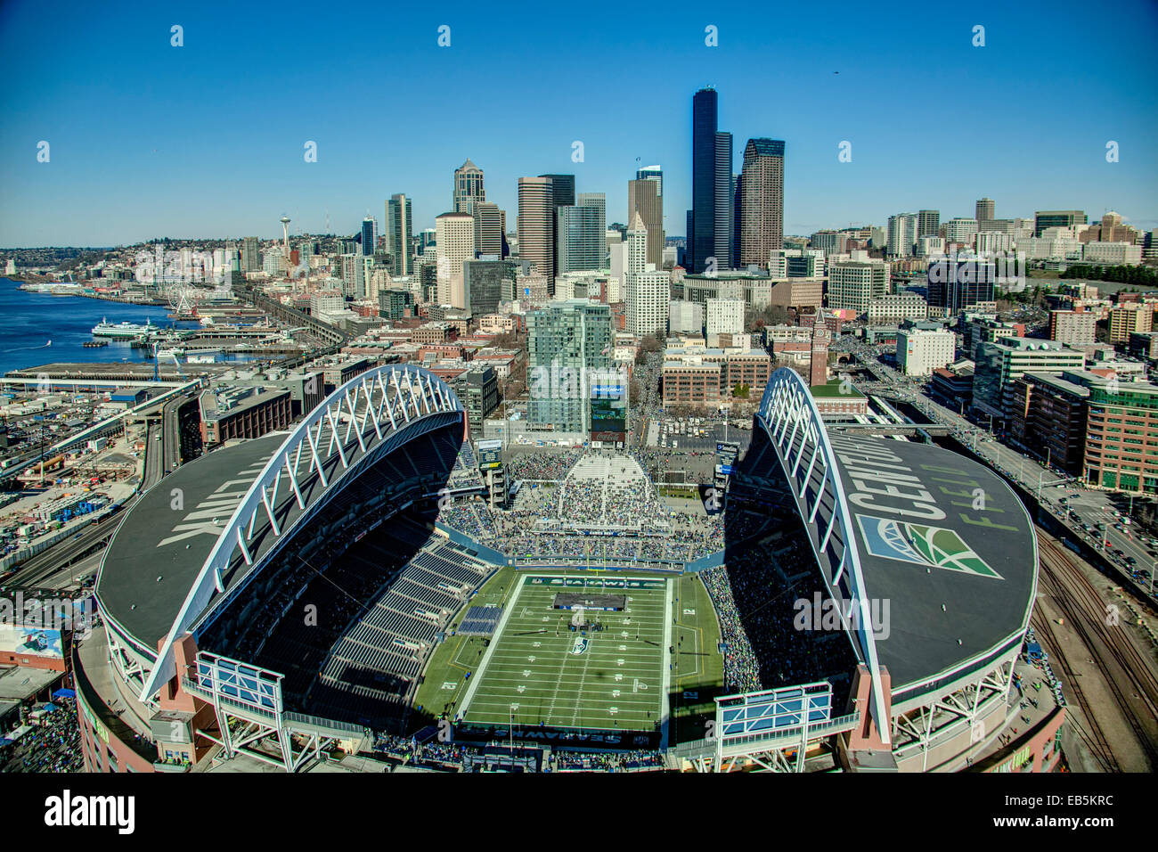 Seahawks Stadium Seattle Washington Usa Stock Photo Alamy