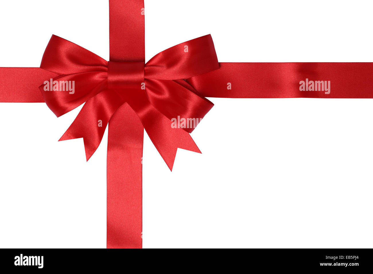 Gift card with red ribbon for gifts on Christmas or birthday ...