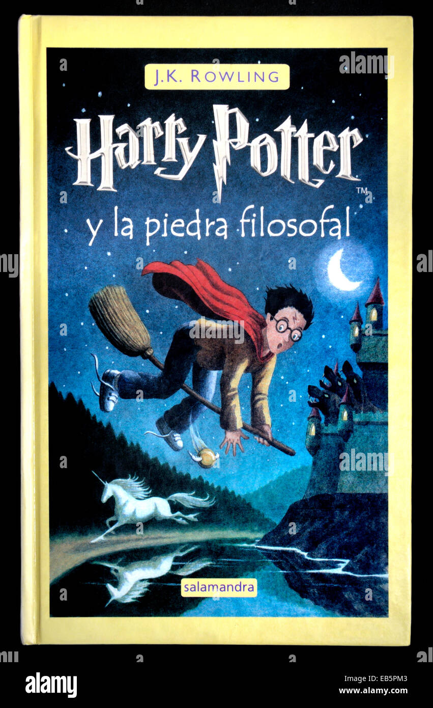 Harry Potter and the Philosopher's Stone - Spanish edition - Stock Image