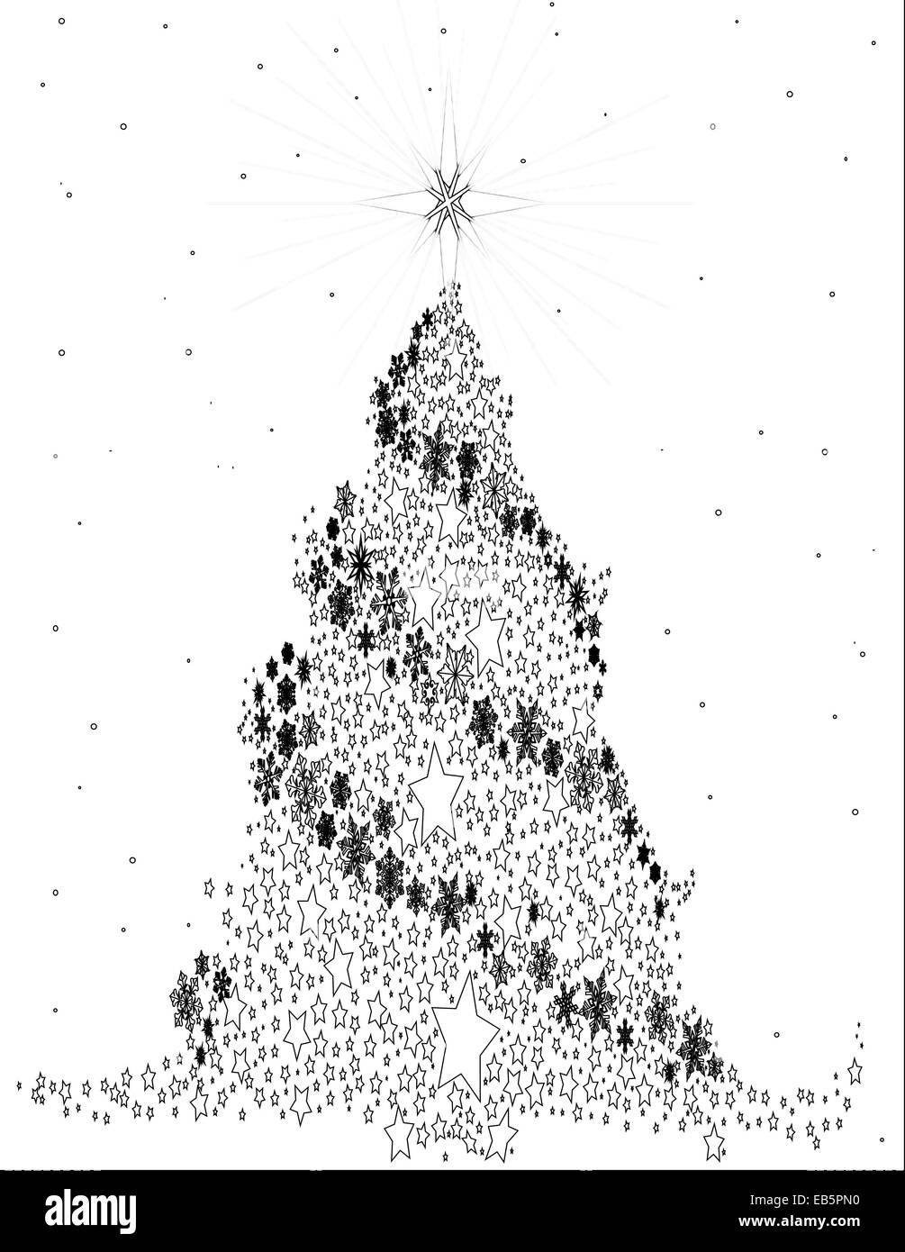 Christmas Tree Snow Night Black and White Stock Photos & Images - Alamy