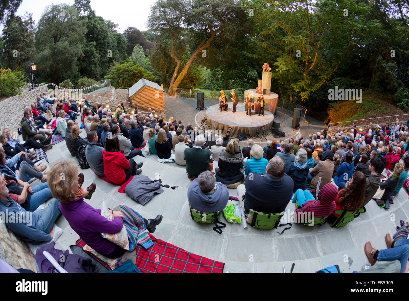 Trebah Garden; Theatre; Cornwall; UK Stock Photo