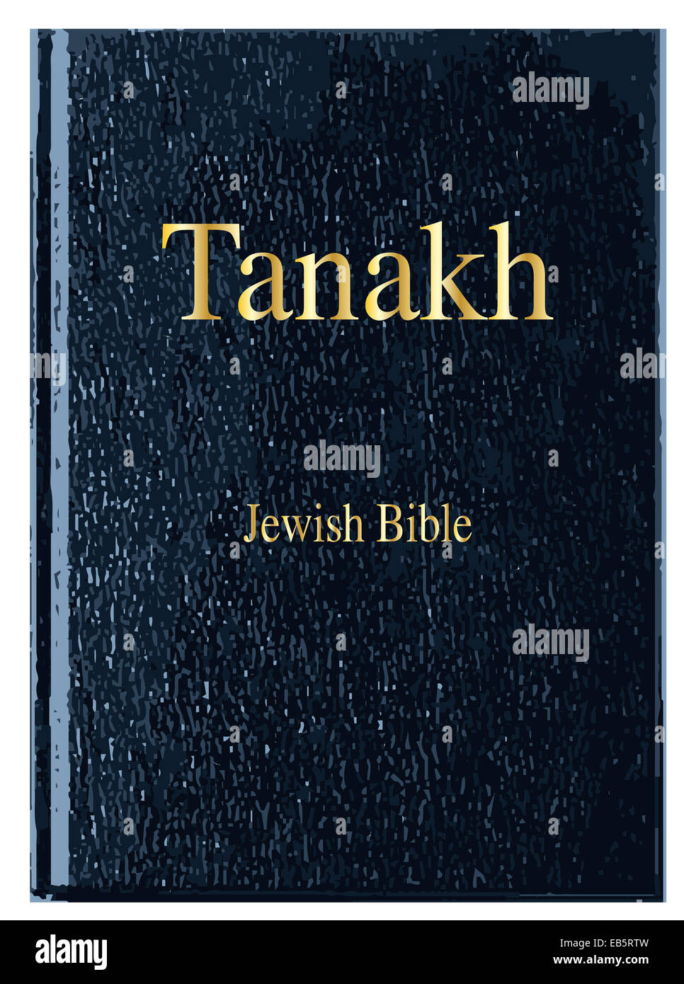 The Front Cover Of Tanakh Over A White Background