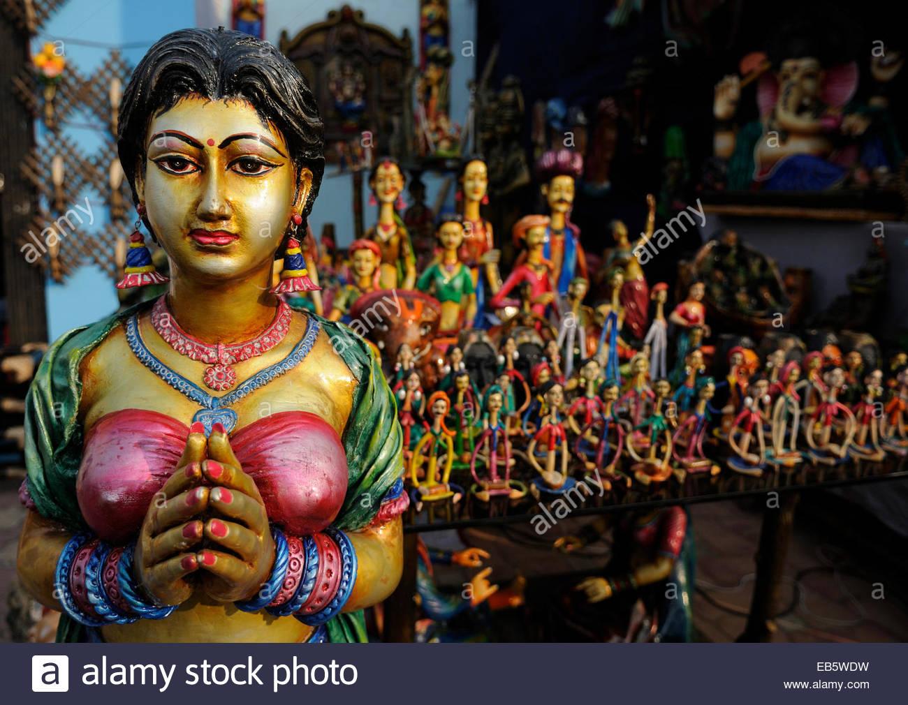 Tera Cotta Dolls During The Handicrafts Fair In Kolkata India