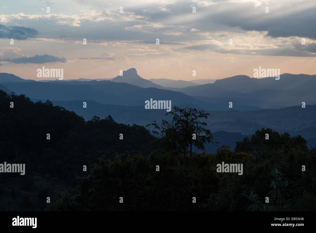 Sunset at Lamington National Park, Queensland, Australia - Stock Image