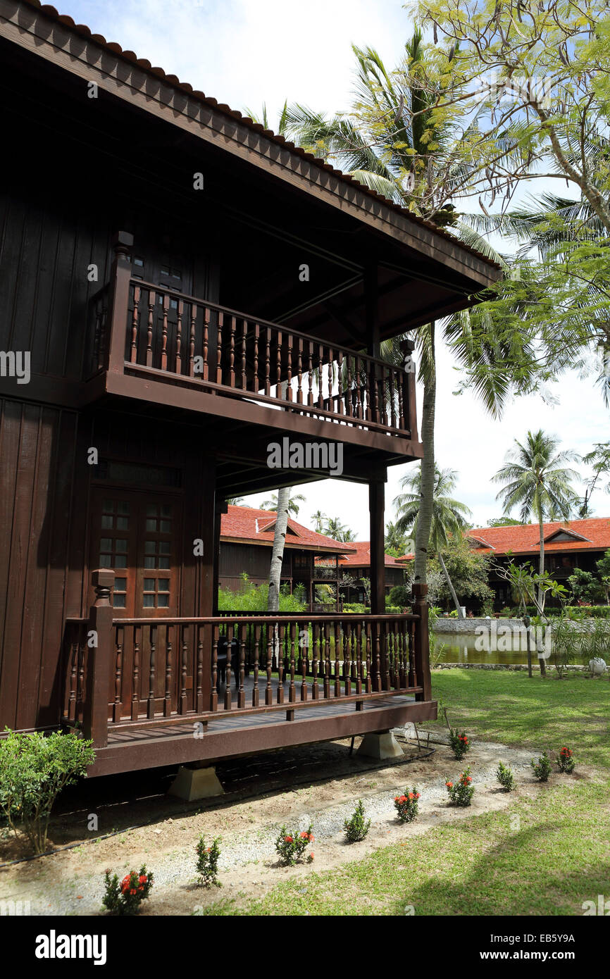 A Chalet At The Meritus Pelangi Beach Resort And Spa On Langkawi Stock Photo Alamy