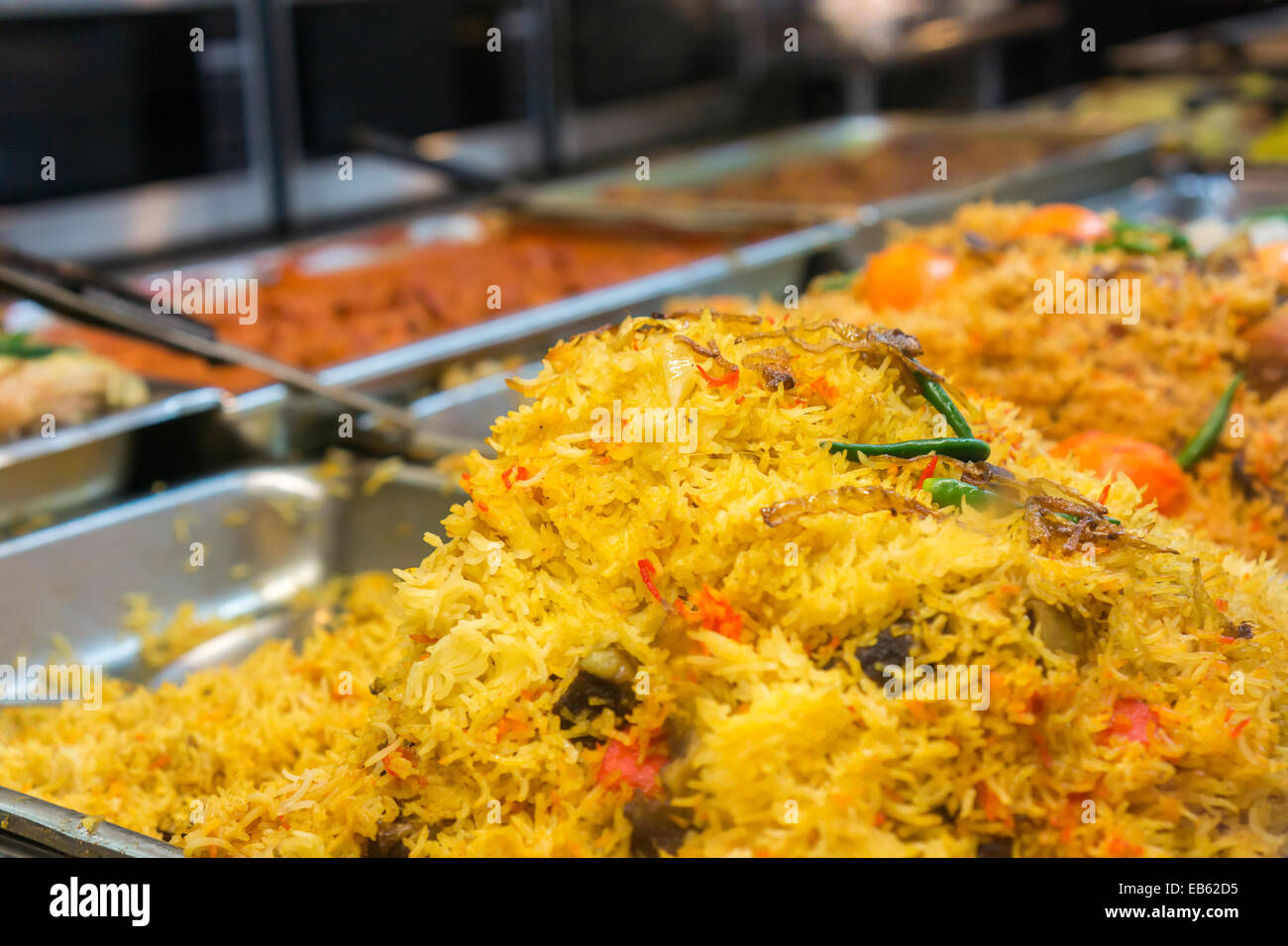 Wondrous Rice Dishes In A Buffet In An Indian Restaurant In The Download Free Architecture Designs Viewormadebymaigaardcom