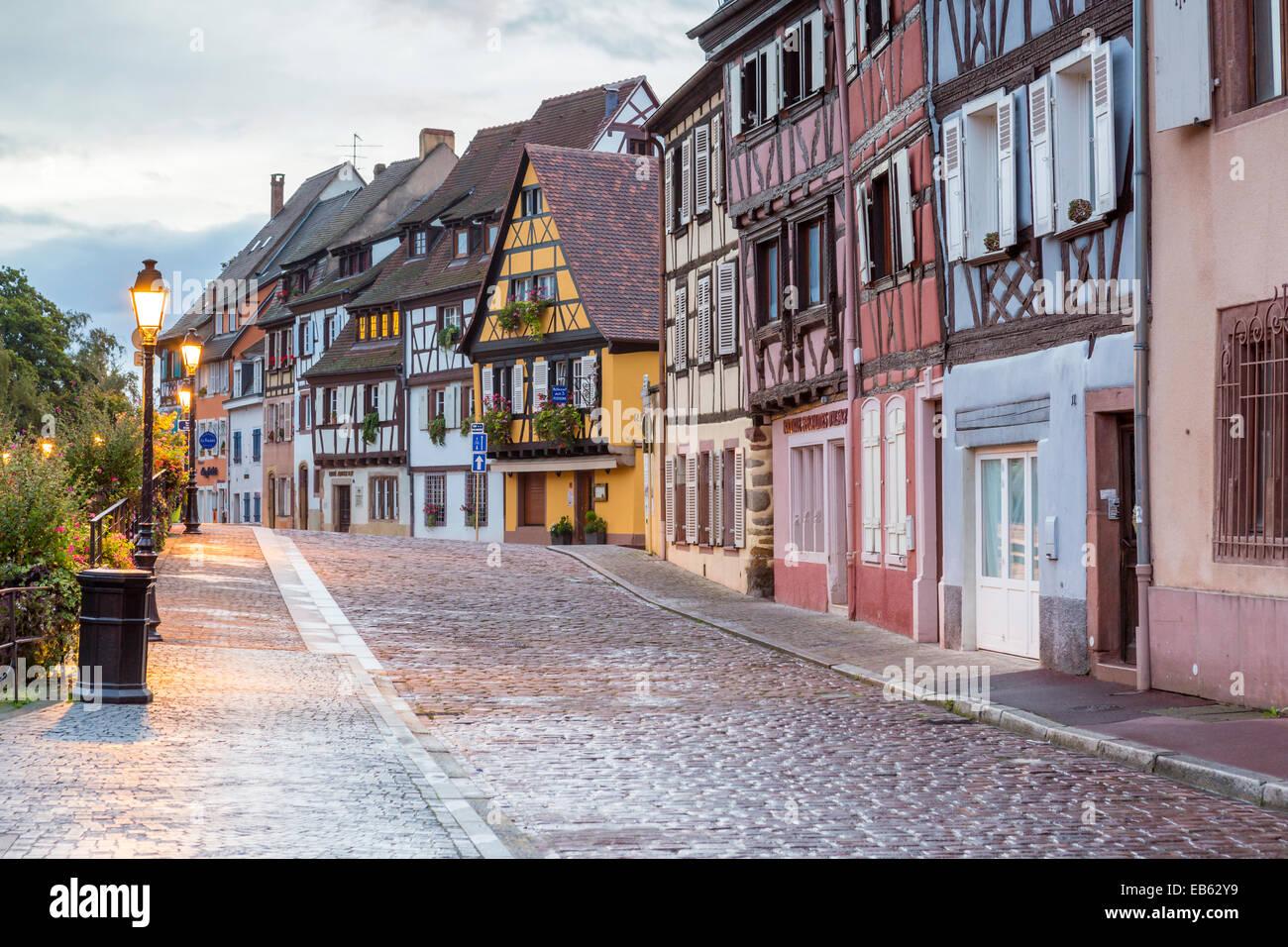 Petite Venice, Colmar, Alsace, France, Europe. - Stock Image