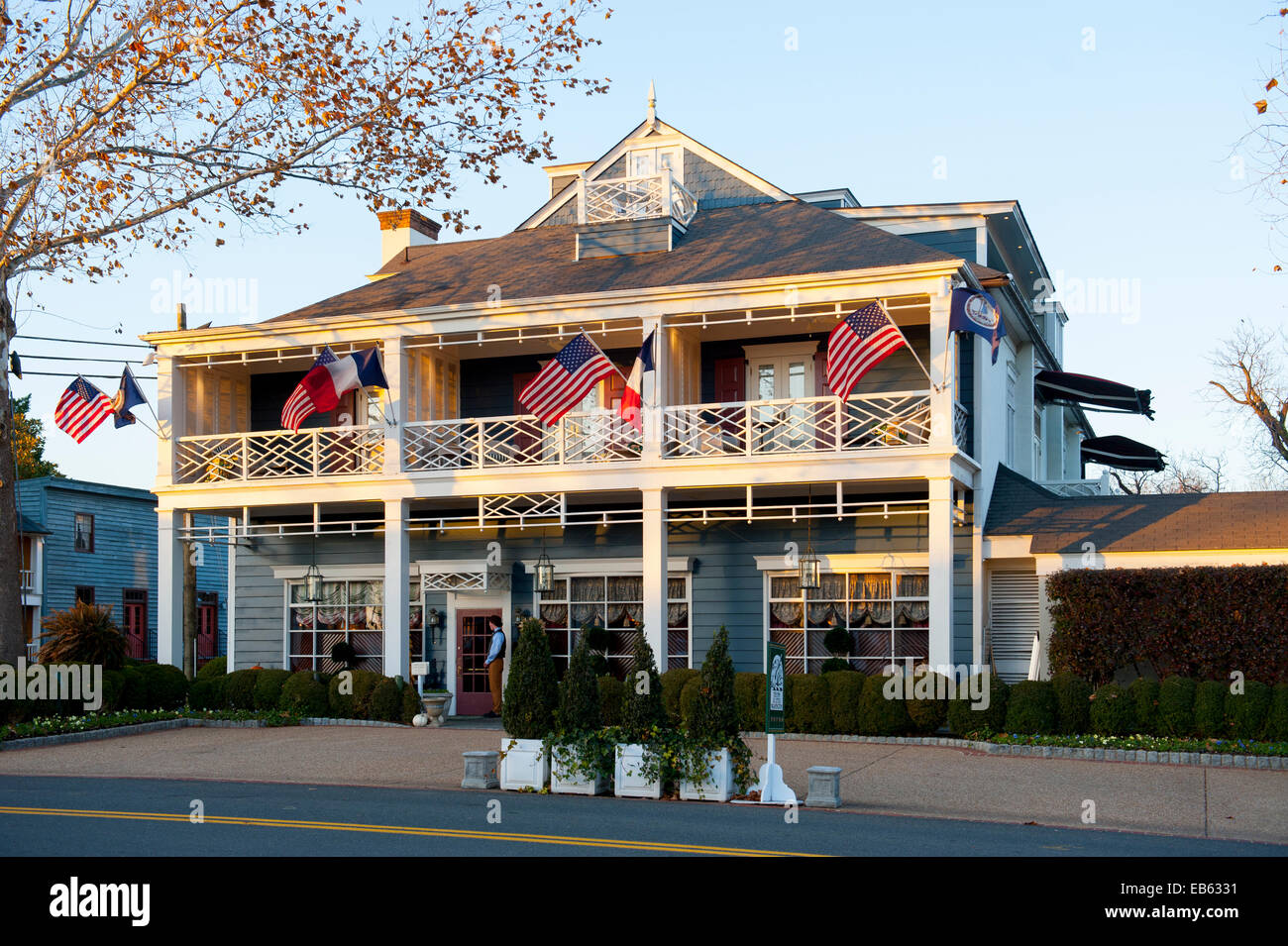 USA Virginia VA Washington Inn at Little Washington a Relais and Chateaux hotel property exterior day - Stock Image