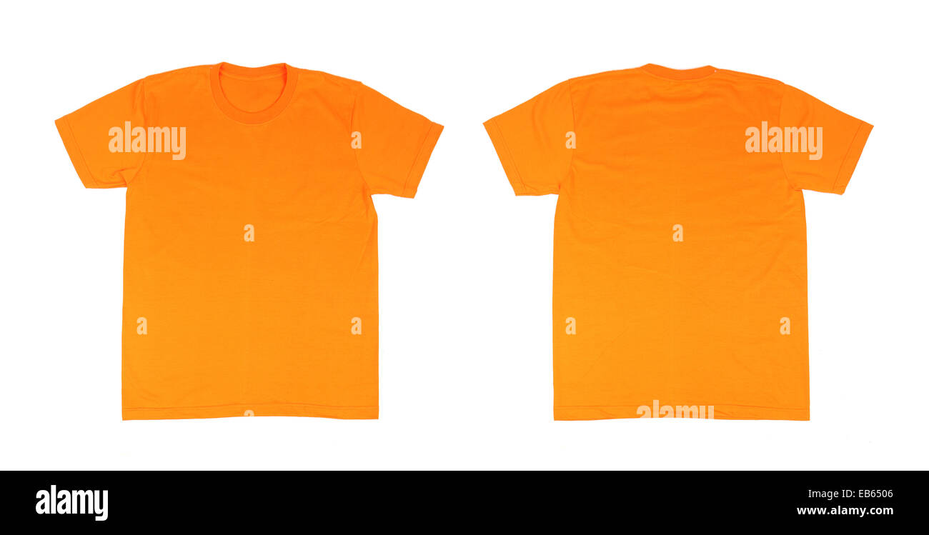 t-shirt template set(front, back) on white background Stock Photo ...
