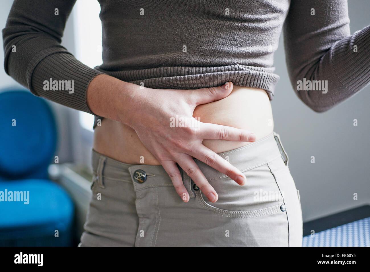 TREATING DIABETES, WOMAN - Stock Image
