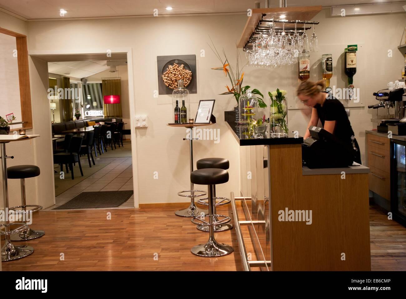Nygatan 57 Restaurant  www nygatan57 es Skelleftea  Västerbotten, Lapland, Sweden, Scandinavia. - Stock Image