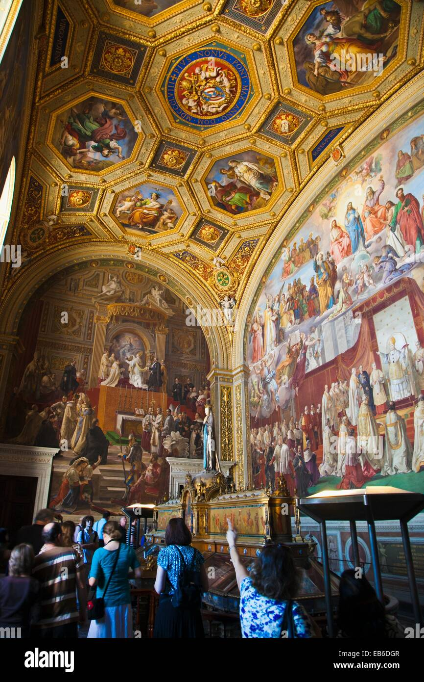 Immaculate Conception Hall. Vatican Museum, Vatican City, Rome, Lazio, Italy - Stock Image