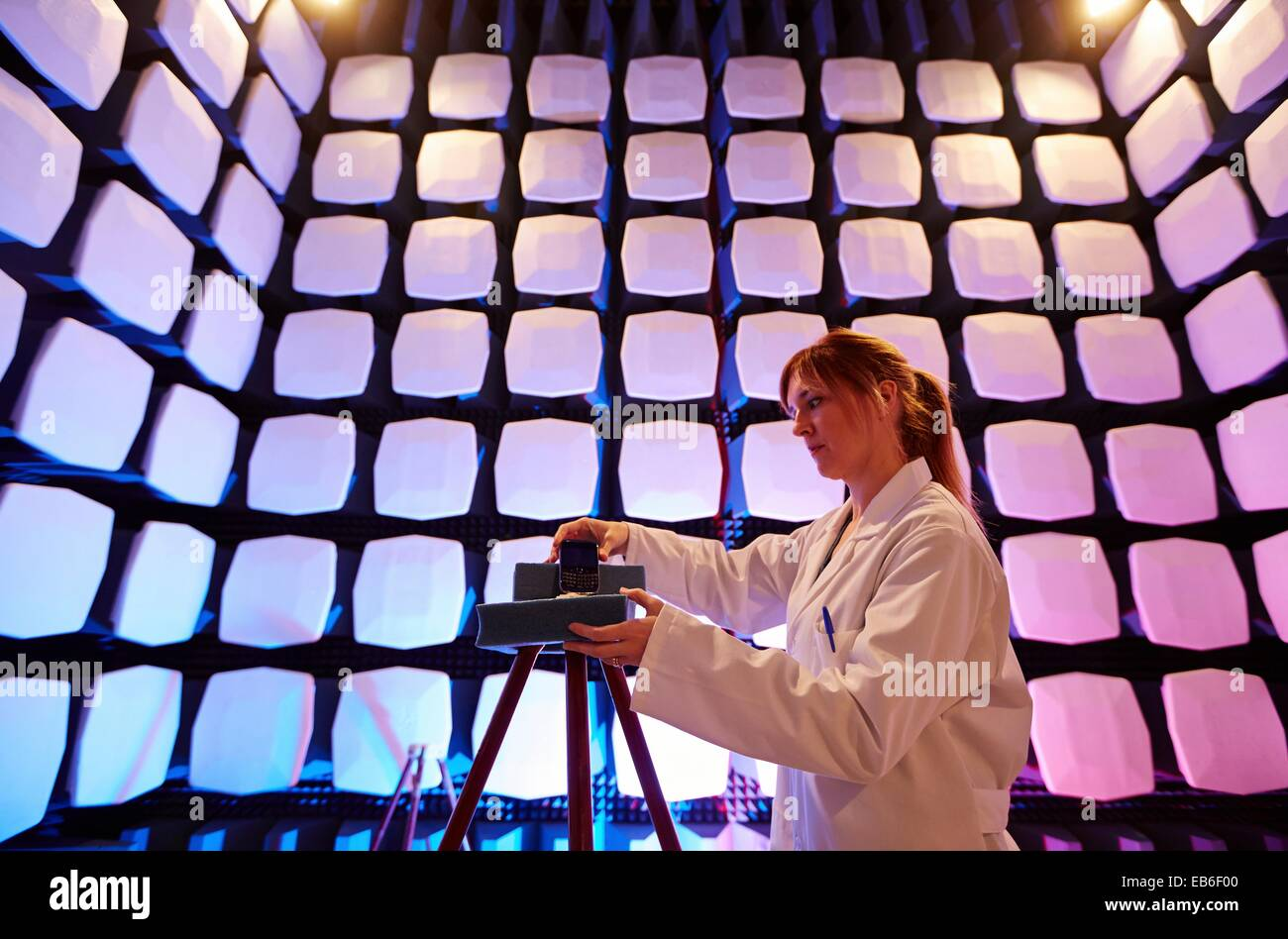 Anechoic Chamber Emc Telecom Lab Certification Low Voltage Stock