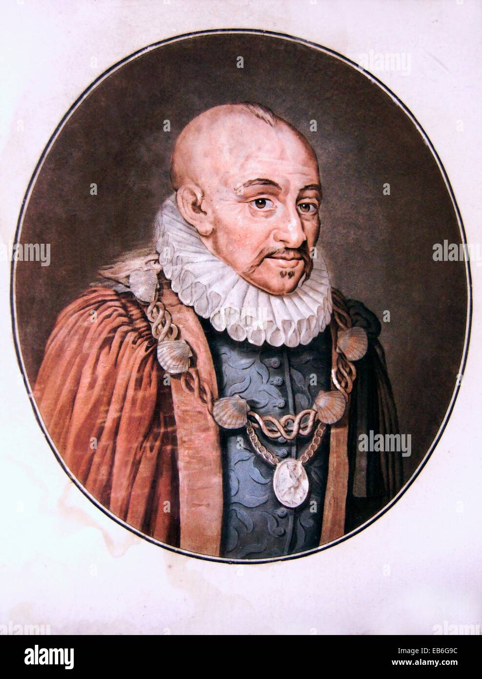 Michel Eyquem de Montaigne (February 28 1533 - September 13 1592) was one of the most influential writers of the - Stock Image
