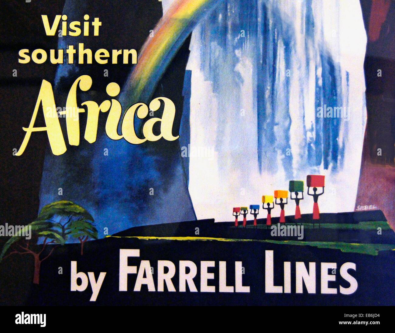 Visit Southern Africa by Farrell Lines - Stock Image