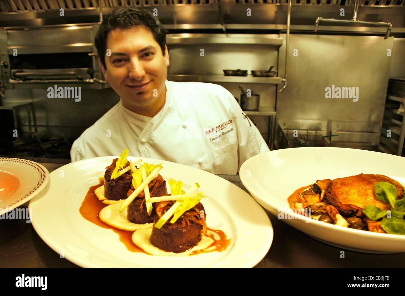 USA. New York.  Executive Chef Damian Sansonetti of ´Bar Boulud´ - Stock Image
