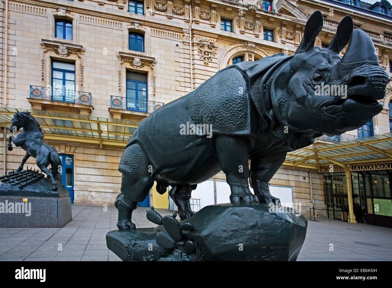 Rhinoceros ´Rhino´ by Alfred Jacquemart, Orsay Museum, Paris, France. - Stock Image