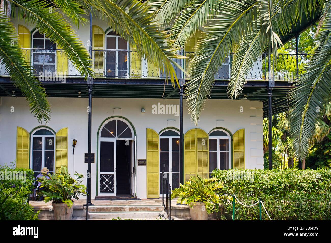 Ernest Hemingway home and museum  Key West  Florida, USA. Stock Photo