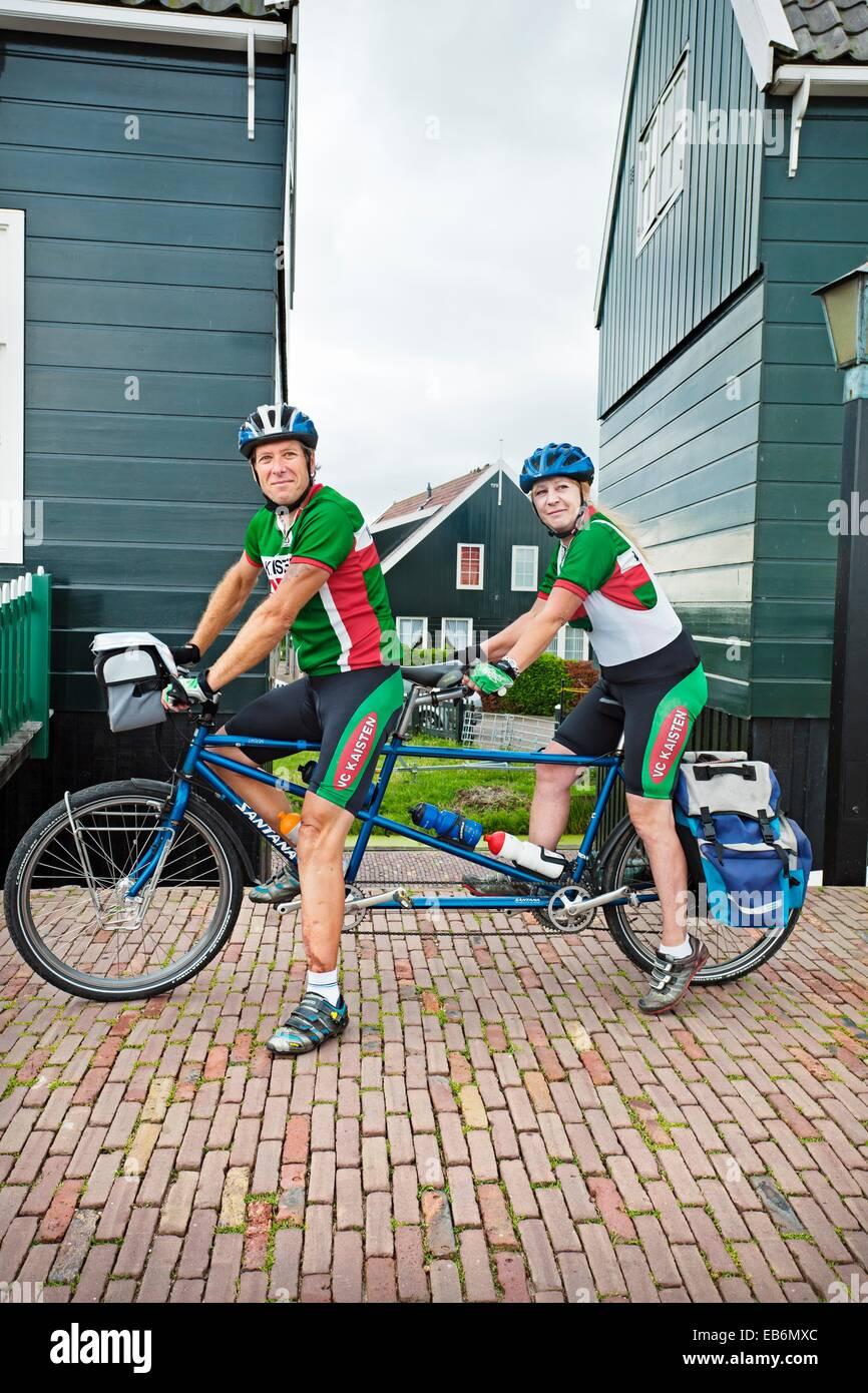 Bycicle tandem, Marken, near Amsterdam, Netherlands. - Stock Image