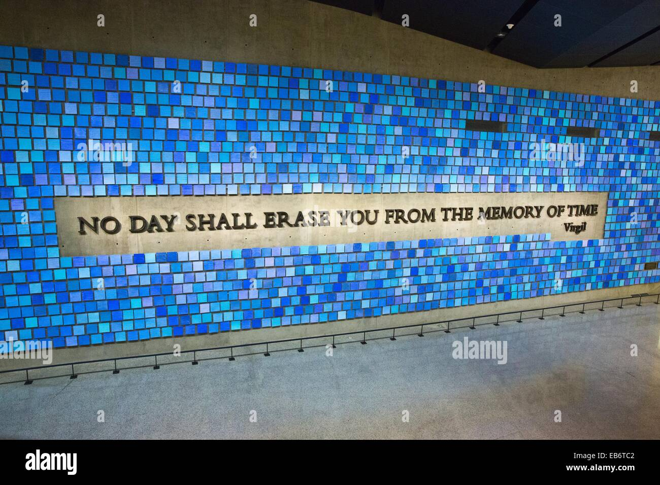 Memorial Hall of National September 11 Memorial and MuseumNational September 11 Memorial and Museum, Manhattan, - Stock Image