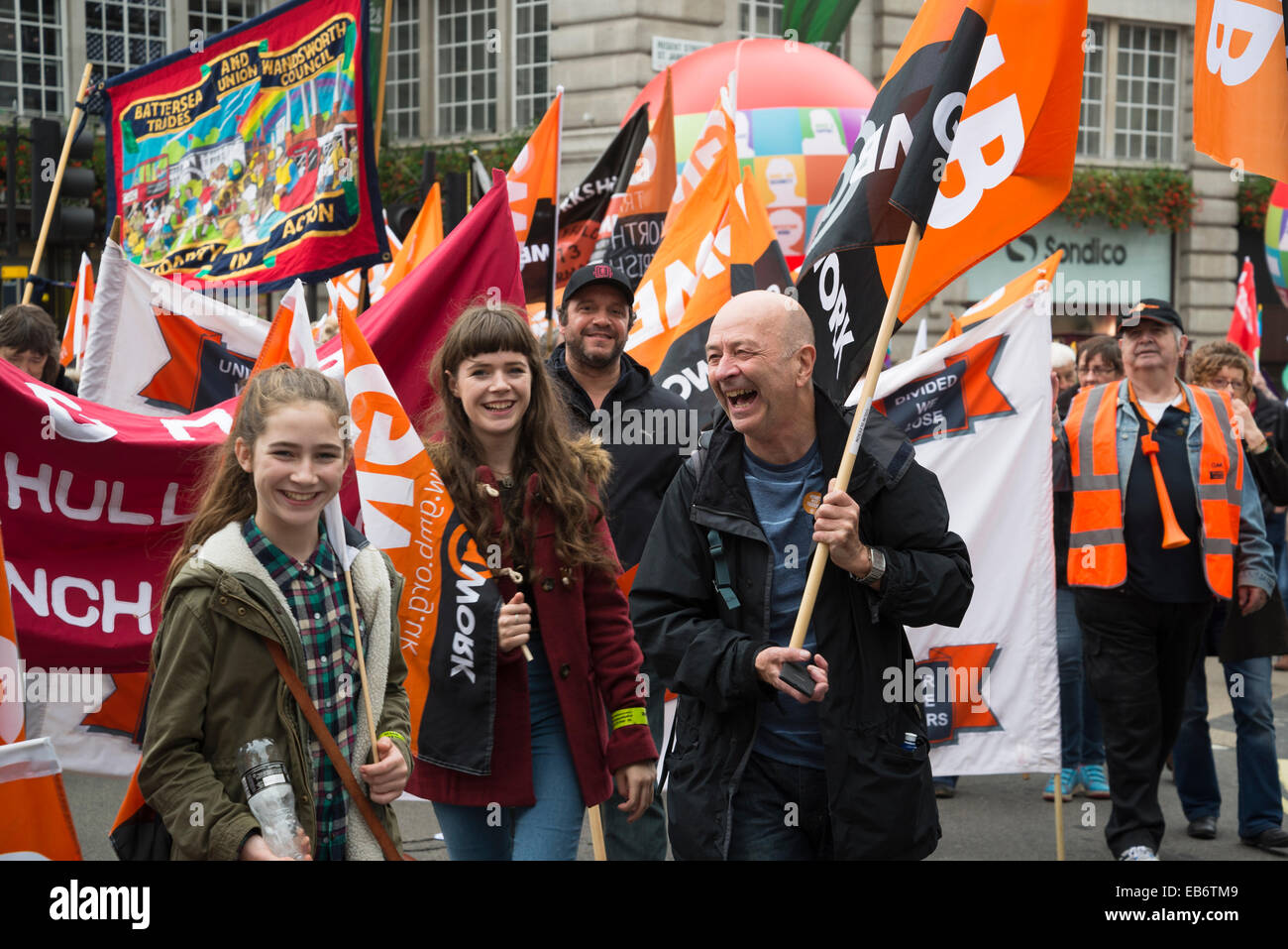 Britain Needs a Pay Rise march, London, 18 October 2014, UK - Stock Image