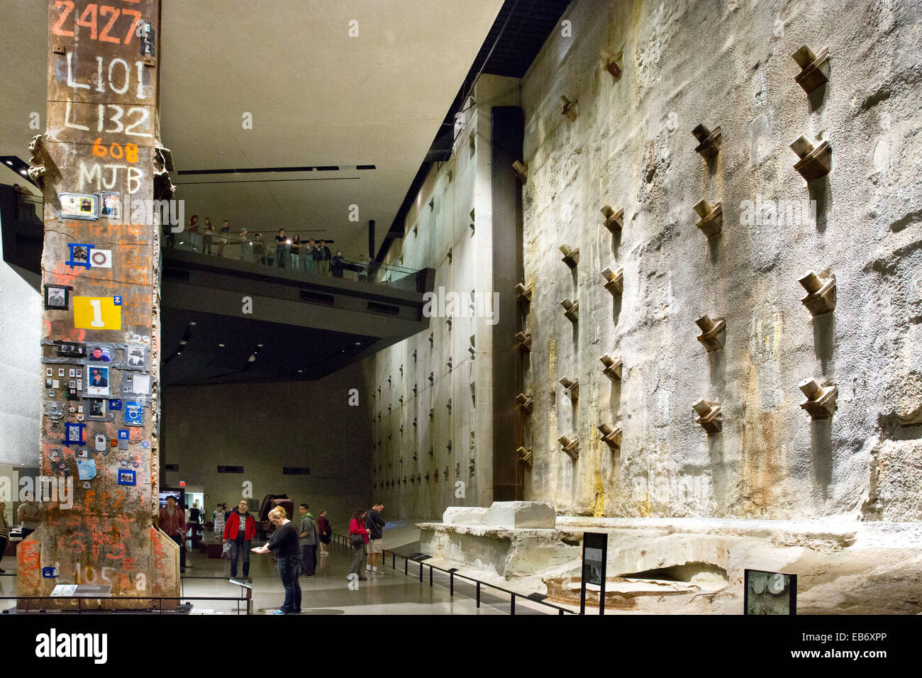 Foundation Hall of the National September 11 Memorial and MuseumNational September 11 Memorial and Museum, Manhattan, - Stock Image