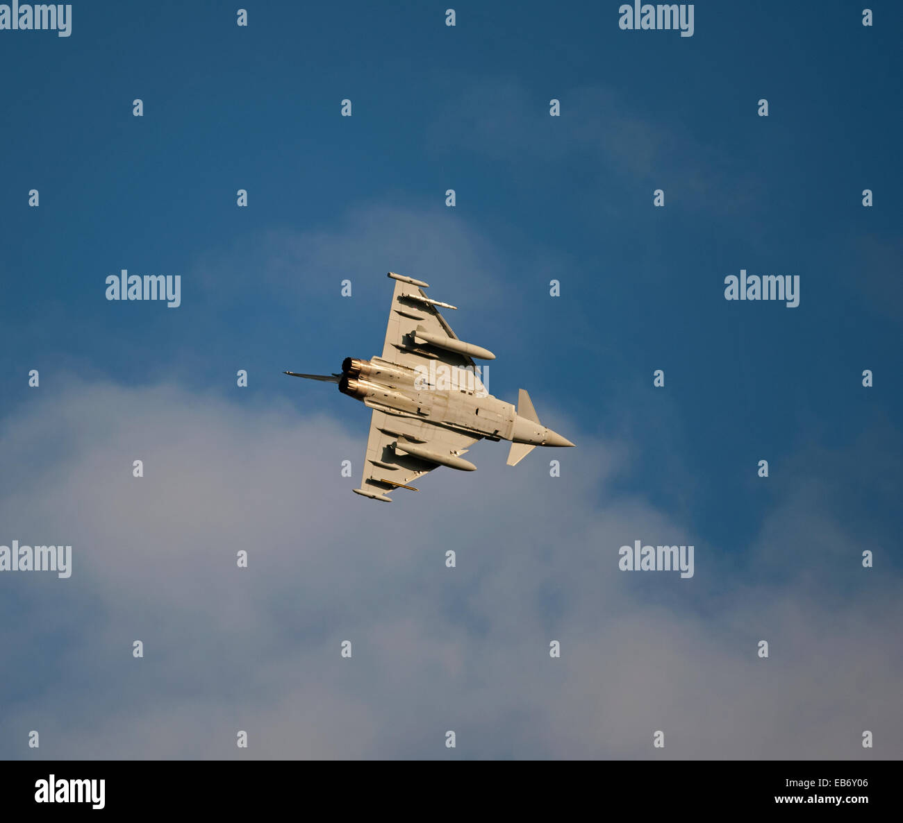 Eurofighter Typhoon ZK316 1 Squadron RAF Lossiemouth, Scotland.  SCO 9194 - Stock Image