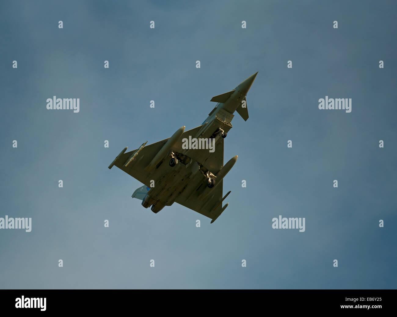 Eurofighter Typhoon FRG4 Military Fast Jet Fighter. SCO 9195. - Stock Image