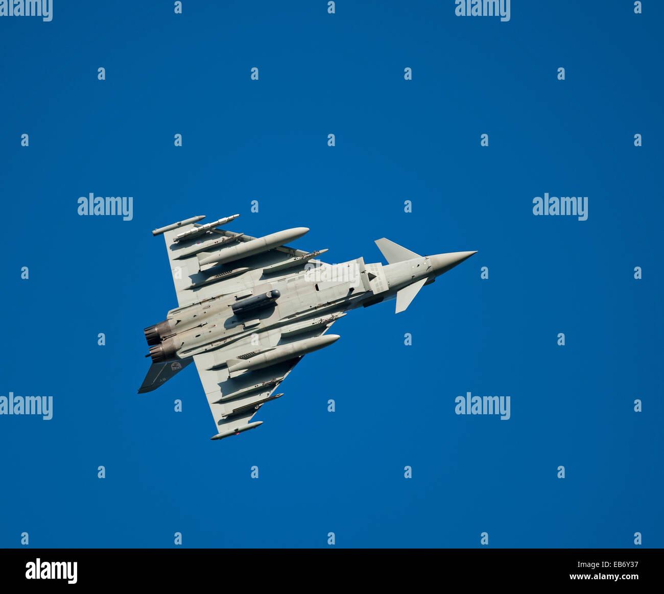 Eurofighter Typhoon FRG4 Military Fast Jet Fighter.  SCO 9196. Stock Photo