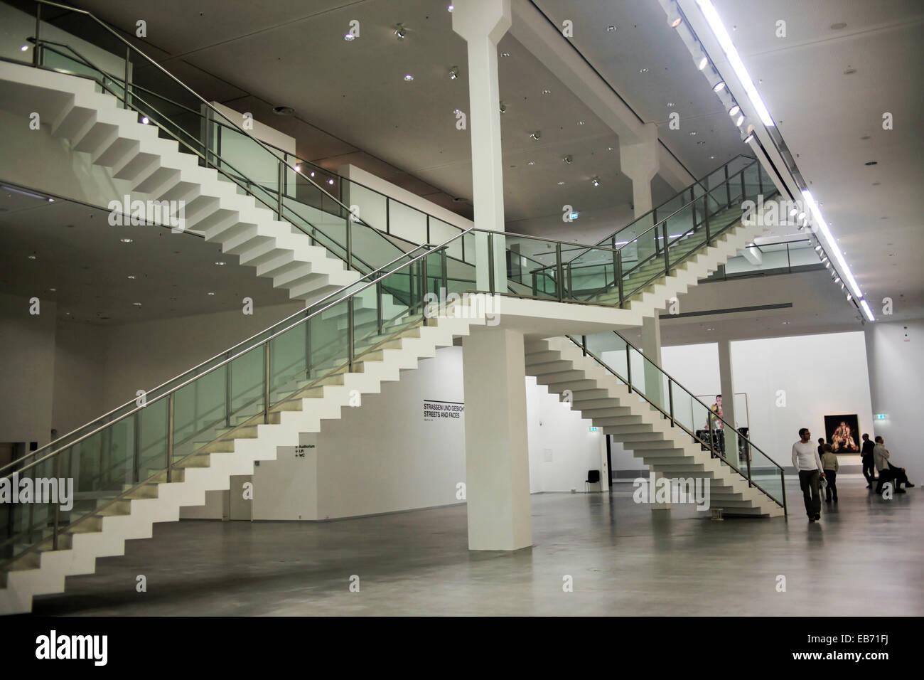 Interior of the Berlinische Galerie. A museum of modern art Stock ...