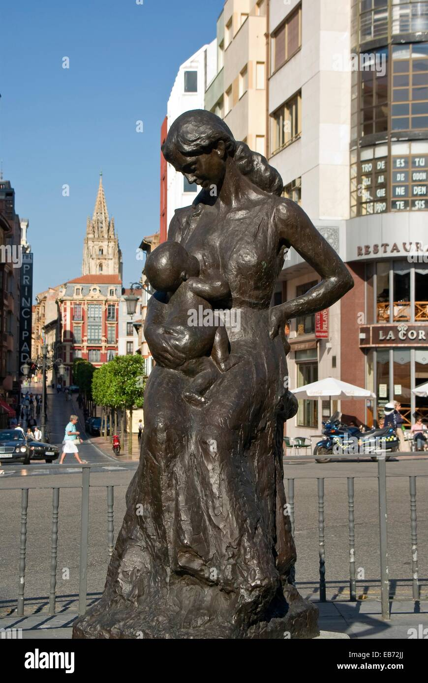 Monument to motherhood, Oviedo, Asturias, Spain. - Stock Image