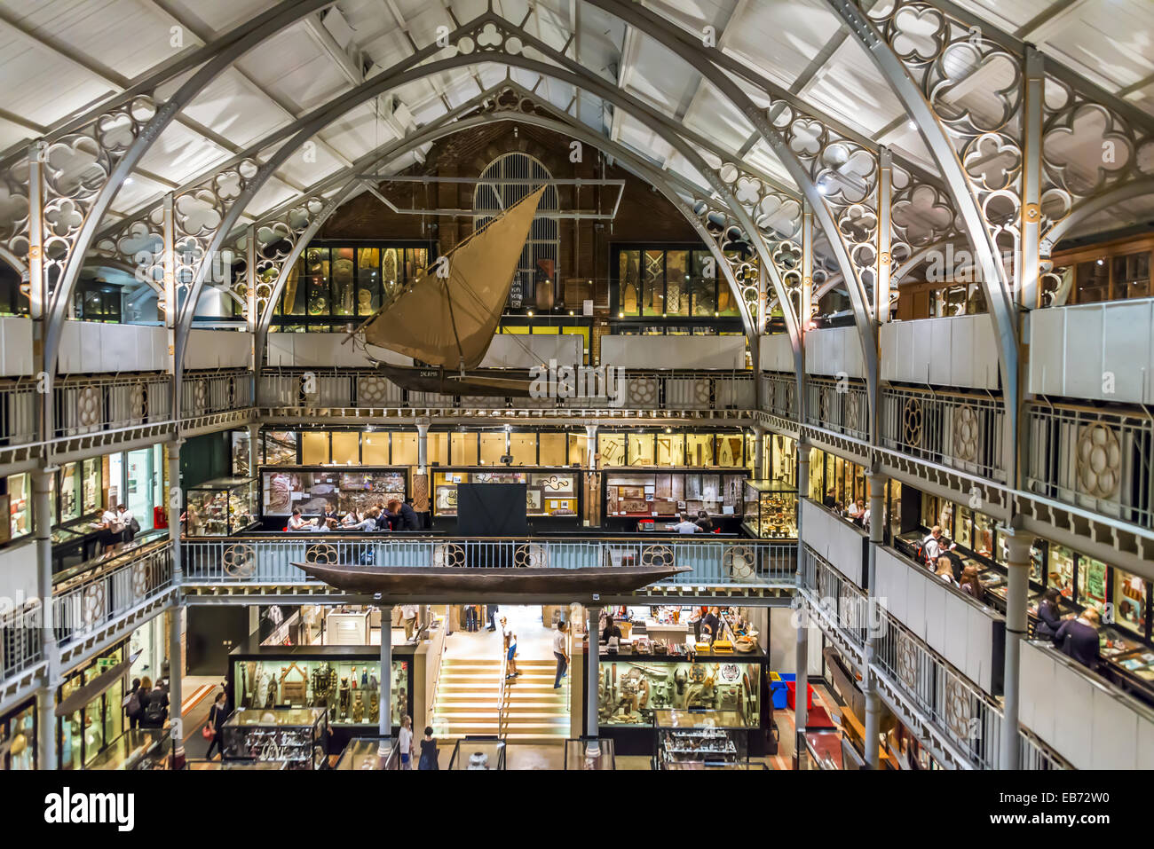 The Pitt Rivers Museum is a museum displaying the archaeological and anthropological collections of the University - Stock Image
