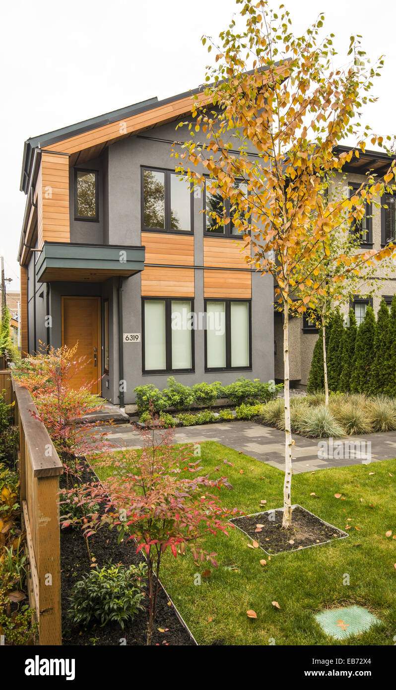 Exterior Of A New Contemporary Style House In Kerrisdale