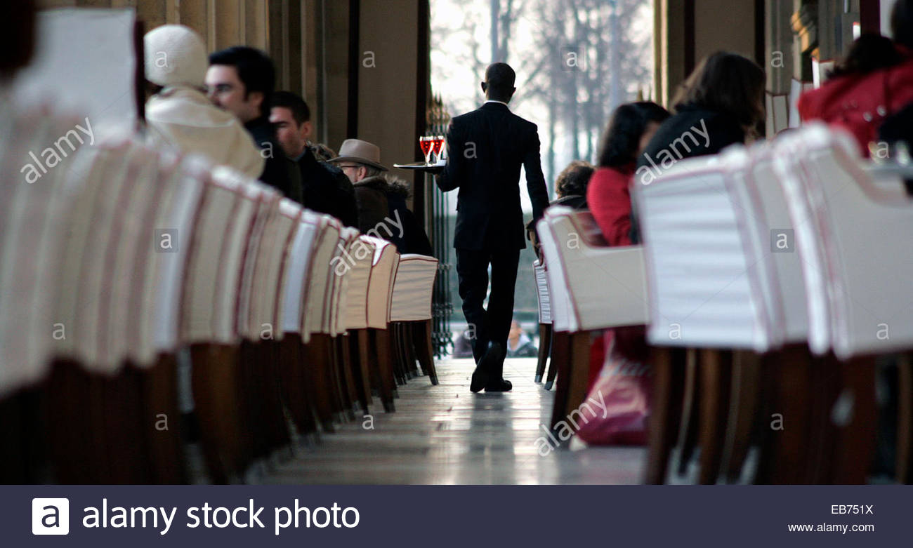 Inside a restaurant, Paris. - Stock Image