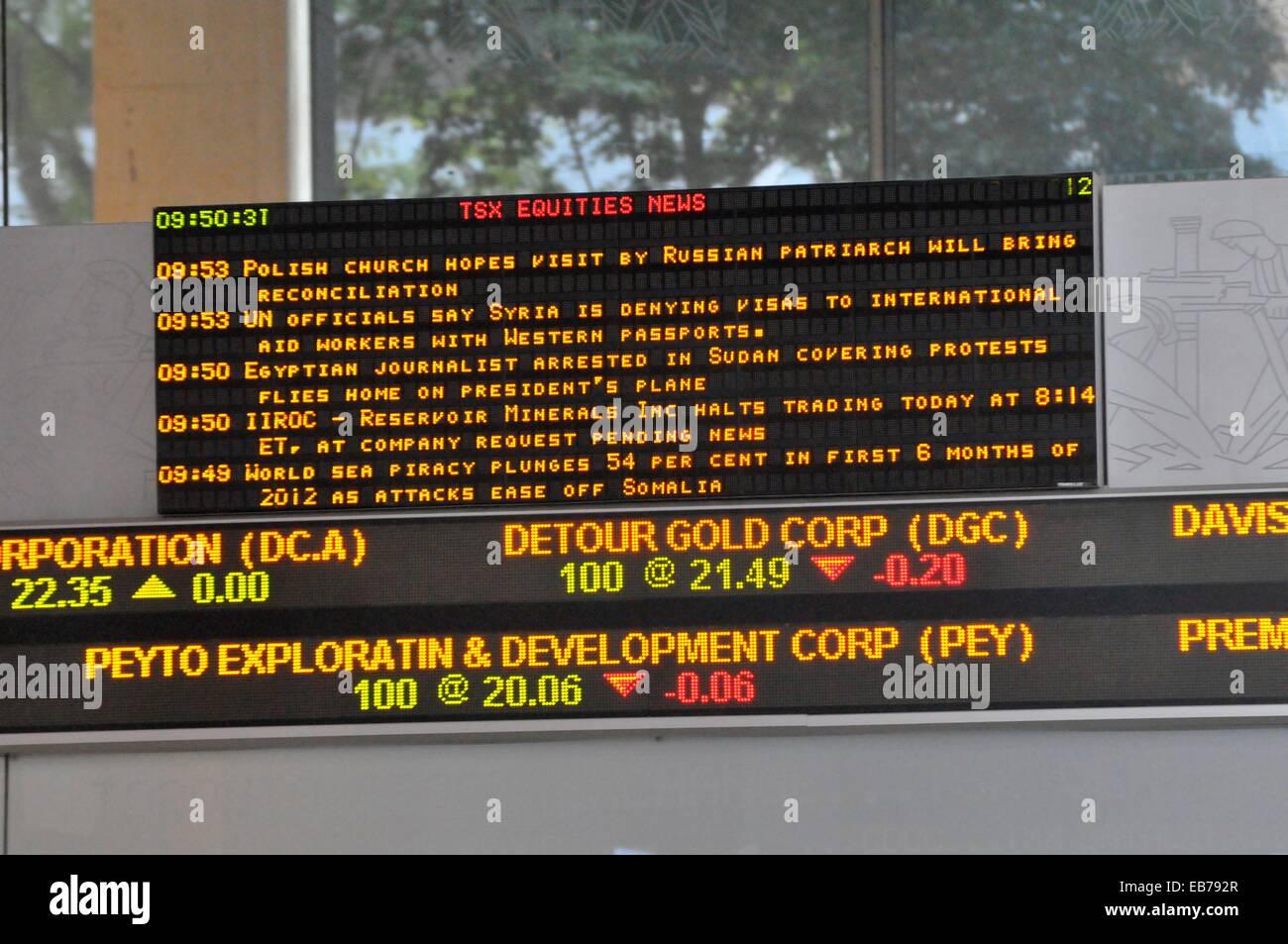 Toronto Stock Exchange Downtown city life Toronto Ontario