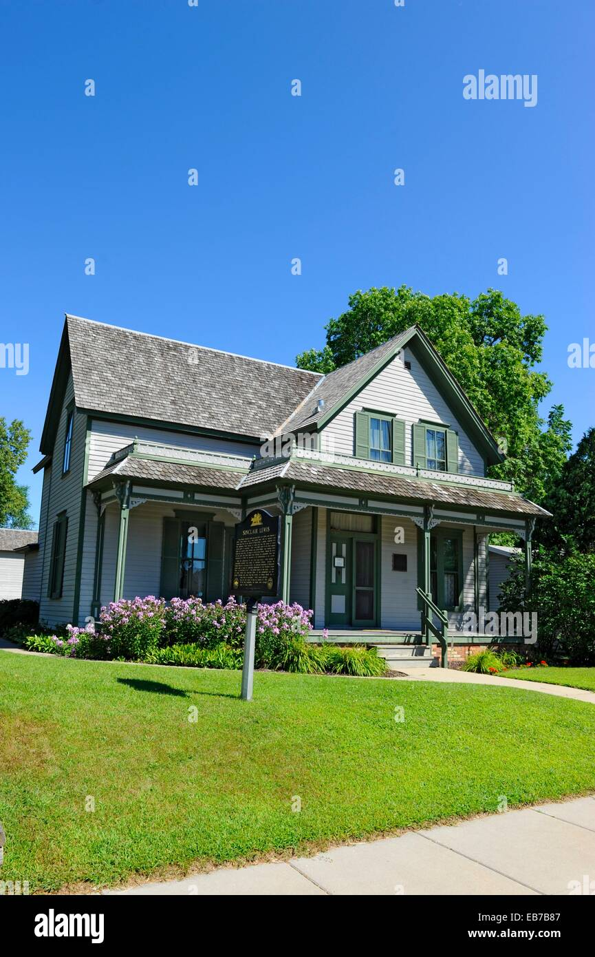 Sinclair Lewis Home Sauk Centre Minnesota MN - Stock Image
